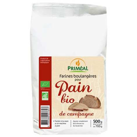 Priméal - Farine boulangère pour pain de campagne bio