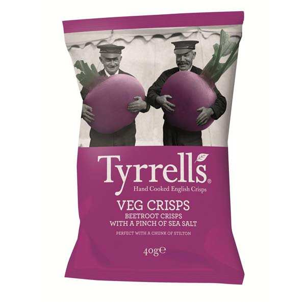 All natural beetroot chips with sea salt