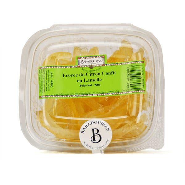 Ecorces de citrons confits en lamelles