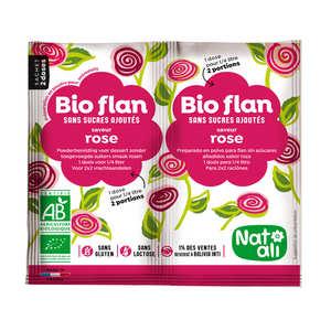 Nat-Ali - Bio-flan non sucré parfum rose