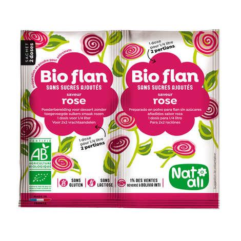 Nat-Ali - Bio Flan parfum rose sans sucres ajoutés
