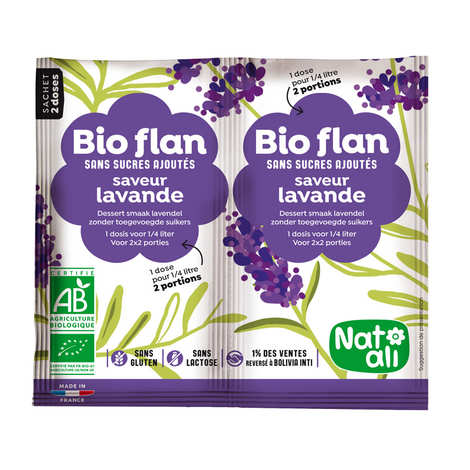 Nat-Ali - Bio Flan parfum lavande sans sucres ajoutés