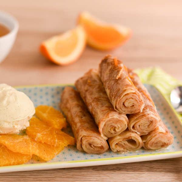 Minis-crêpes suzette à l'Armagnac