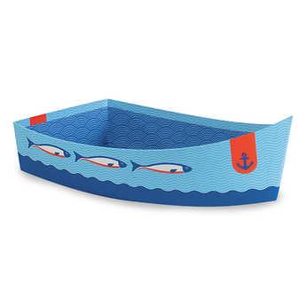 - Barque bleue en carton