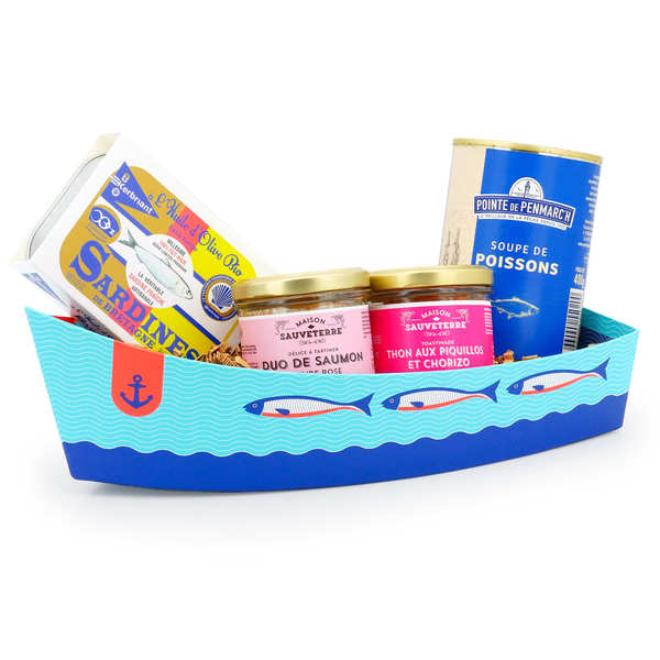 Barque bleue en carton
