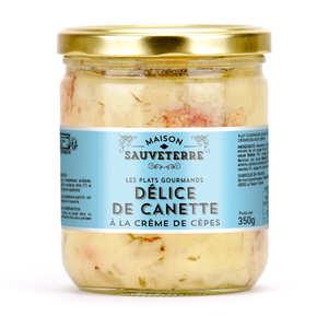 Maison Sauveterre - Délice de canette à la crème de cèpes