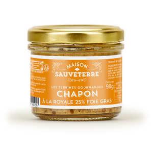 Maison Sauveterre - Terrine de chapon à la royale 25% foie gras