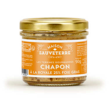 Terrine de chapon à la royale 25% foie gras