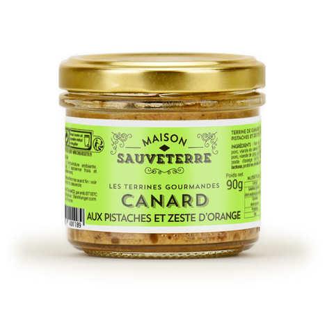 Maison Sauveterre - Terrine de canard aux pistaches et zestes d'orange