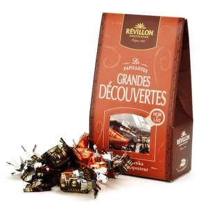 Revillon chocolatier - Papillotes Révillon les grandes découvertes noir et lait