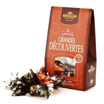 Revillon chocolatier - Christmas discovery papillotes black and milk