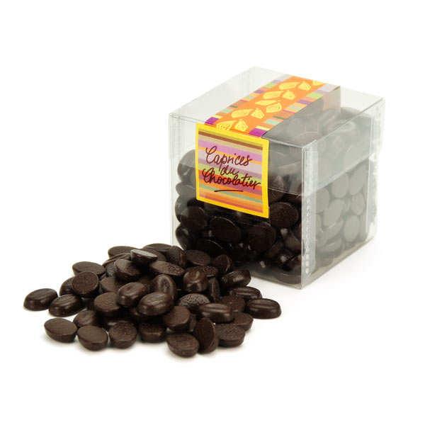 Cube grains de café chocolat