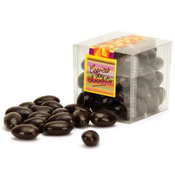 Les Caprices du Chocolatier - Chocolate Almonds in a cube Box