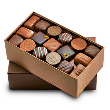 Premium Assortment of Black and Milk Chocolates
