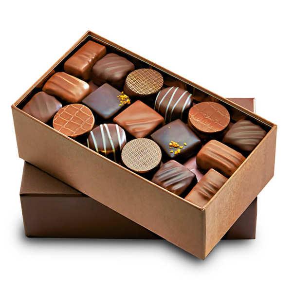 Premium Assortment of Black and Milk Chocolates