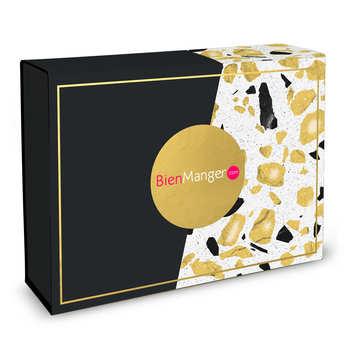 - Trendy Rectangular Gift Box with Golden Terrazzo Pattern