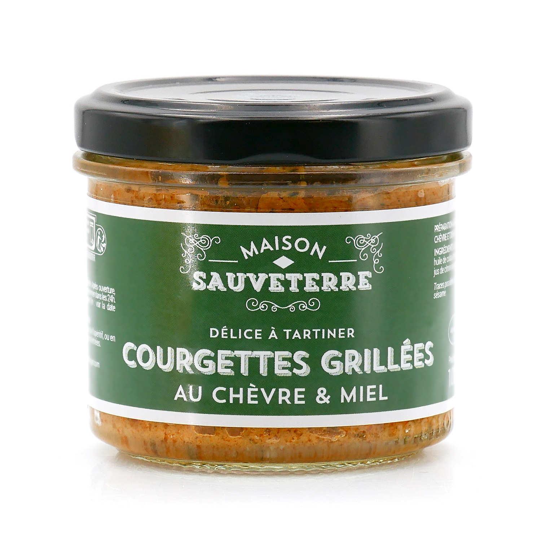 Courgettes grillées au chèvre & miel à tartiner Maison Sauveterre
