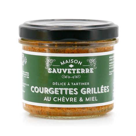 Maison Sauveterre - Courgettes grillées au chèvre & miel à tartiner