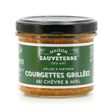 Maison Sauveterre - Grilled zucchini spread with goat cheese & honey