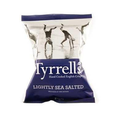 Chips de pommes de terre - légèrement salées au sel de mer