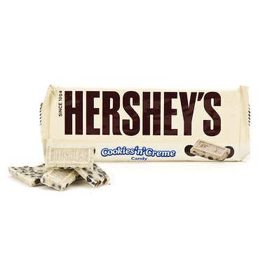 Barre de chocolat Hershey's aux cookies et à la crème
