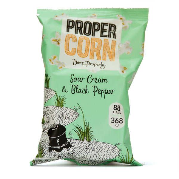 Sour Cream and Black Pepper Popcorn