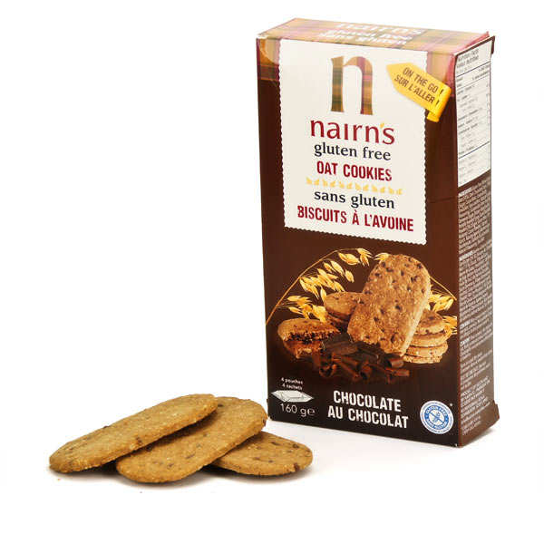 Nairn's Chocolate Chip Biscuits Breaks gluten free