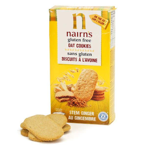 Bicuits Nairn's à l'avoine et au gingembre confit sans gluten