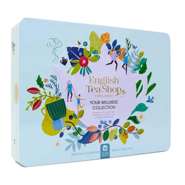 Coffret de thé bio bien-être - 36 sachets 6 parfums