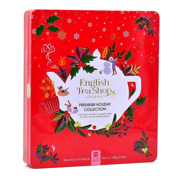 Coffret de thé bio de Noël - 72 sachets 9 parfums