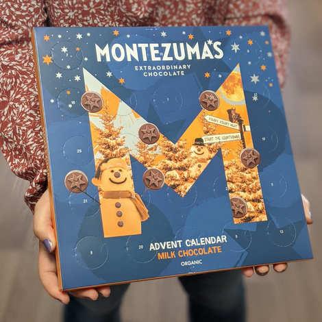 Montezuma's - Calendrier de l'avent chocolat lait bio - Montezuma's