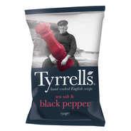 Tyrrells - Sea salt and crushed black pepper potato chips