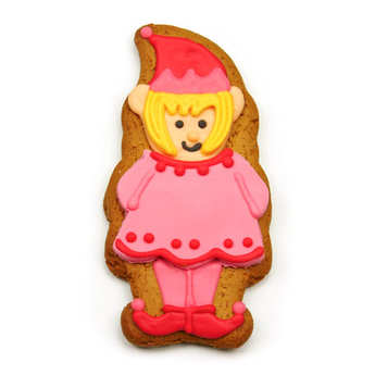 Image on food - Mrs Elf Gingerbread Shelf