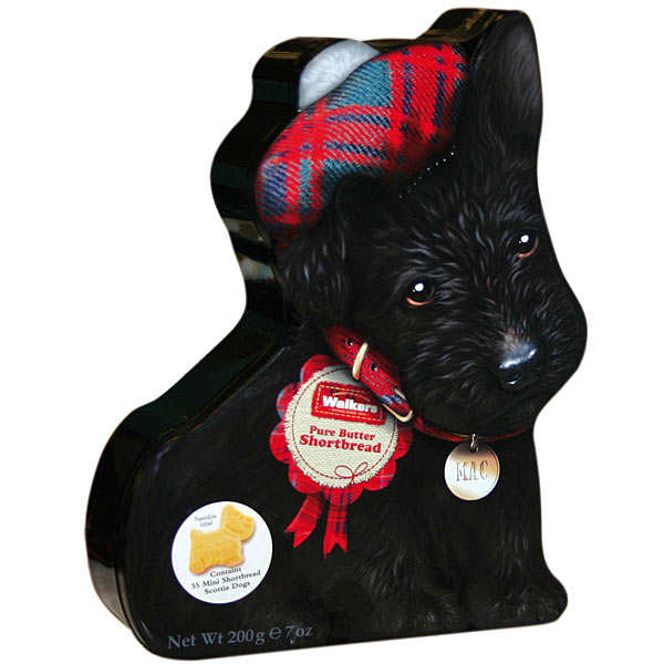 Boîte de biscuits shortbreads Walkers - Chien Scottie