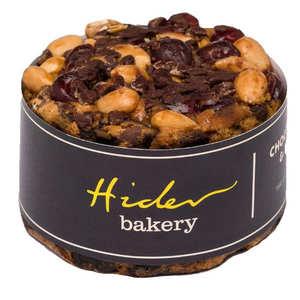 Hider Bakery - Cake aux fruits et chocolat, garni de noix