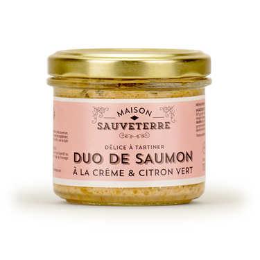 Duo de saumons crème citron vert à tartiner Maison Sauveterre