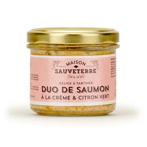 Maison Sauveterre - Duo de saumons crème citron vert à tartiner Maison Sauveterre