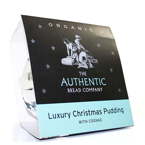 Organic Luxury Christmas Pudding with Cognac