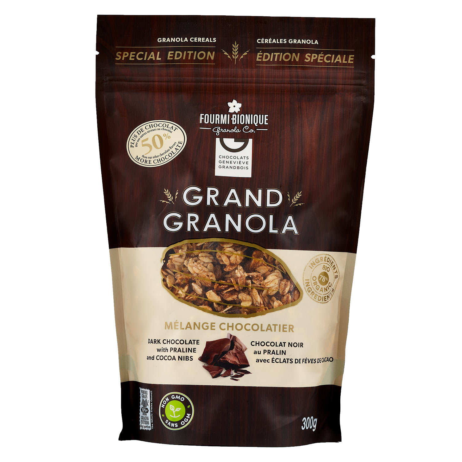 Chocolate Cereal Mixture Granola