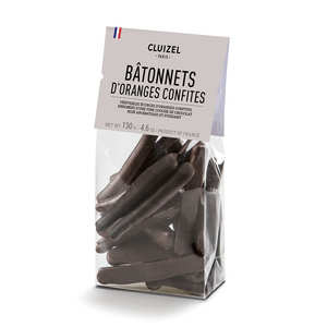 Michel Cluizel - Bâtonnets d'oranges confites enrobés de chocolat noir