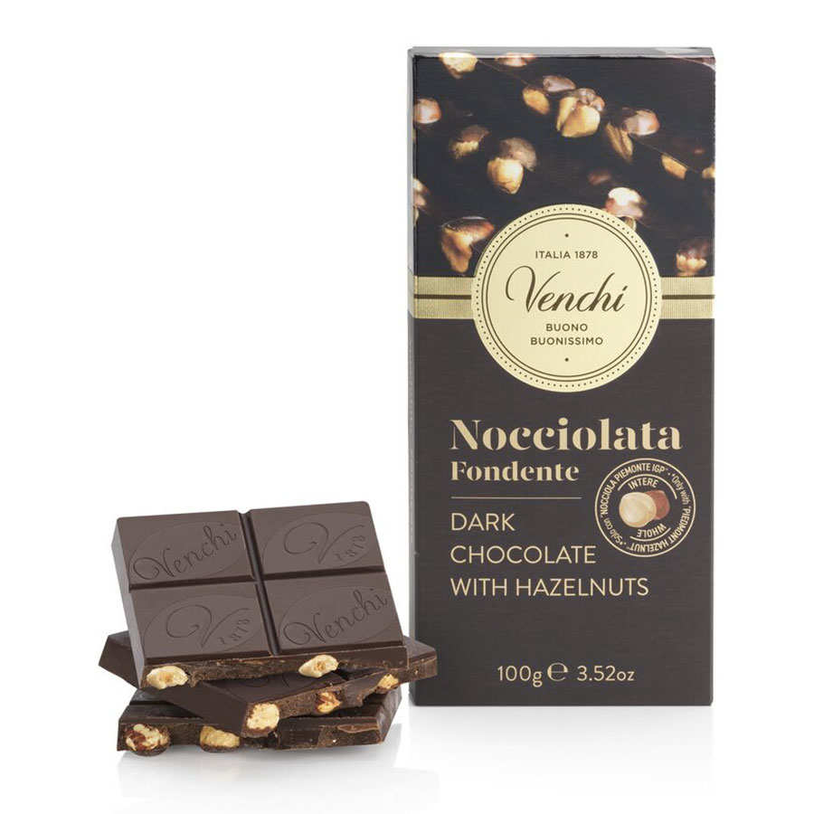 Bar of Dark Chocolate with Hazelnuts - Venchi