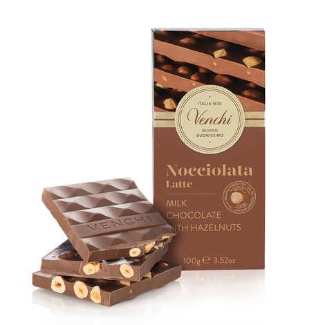Venchi - Tablette chocolat lait avec noisettes - Venchi