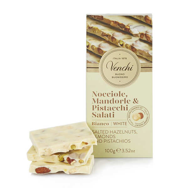 White Chocolate Hazelnut Bar with Salted Nuts