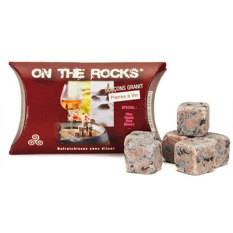 On The Rocks - Pink Granite Wine Ice Cubes from Brittany