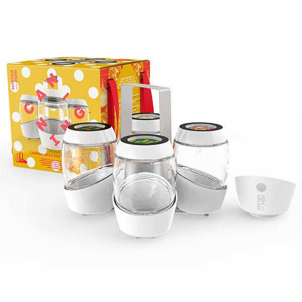 Kit de 4 pots et accessoires pour conserves maison