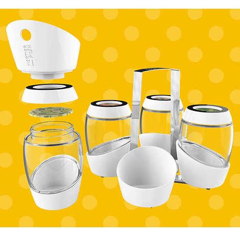 Mortier Pilon - Kit de 4 pots et accessoires pour conserves maison