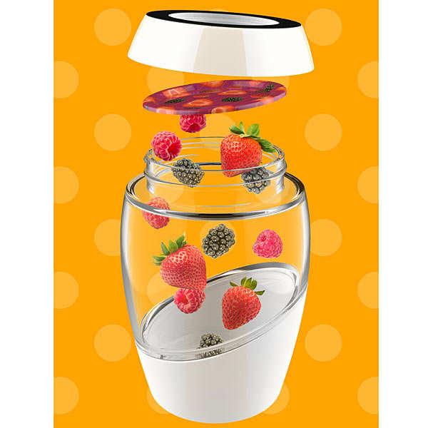 Pot Mason 0.5L design avec 2 couvercles décorés