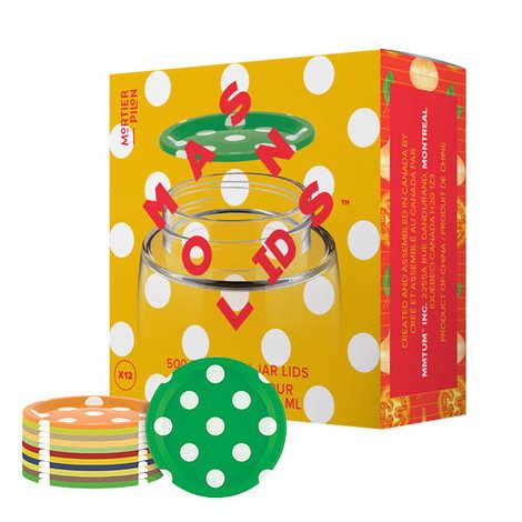 Mortier Pilon - Set of 12 500ml Mason Jar Lids (Polka Dot Design)