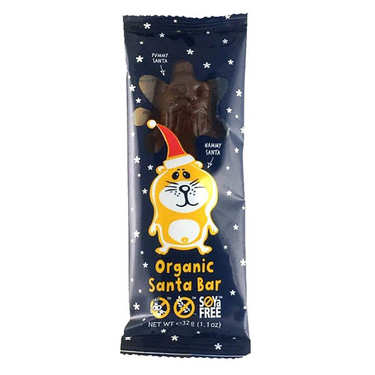Mini père Noël en chocolat au lait bio sans lactose et sans gluten