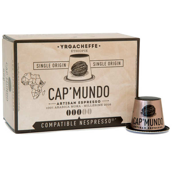 Yrgacheffe coffee - Nespresso® compatible capsules - Strength 3/5
